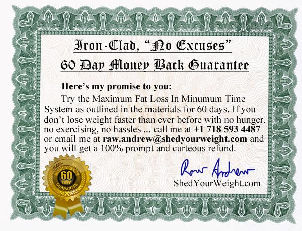 60 Day Iron Clad No Excuses Guarantee